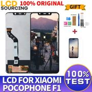 "100% ORIGINAL 6.18"" For Xiaomi Pocophone F1 LCD Screen Touch Screen Digitizer Assembly +Frame For POCO F1 Display Replace"