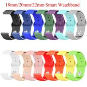 18mm 20mm 22mm Silicone band for Huawei/Withings/Samsung Galaxy/gear s3/ Amazfit Bip Smart watch replacement Strap wristbands