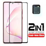 """2 in 1 safety armor protective Glass For samsung Galaxy note 10 lite note10 light 10lite SM-N770F/DS N770F 6.7"""" camera lens Film"""