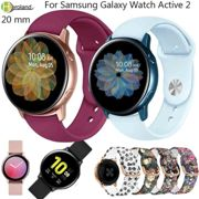 20mm Silicone SmartWatch Strap For Samsung Galaxy watch active2 40mm 44MM Wristband bracelet For Samsung Galaxy watch active 2
