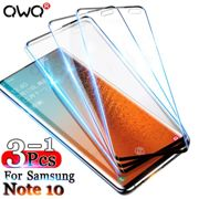 3-1Pcs Curved Protective Glass For Samsung Galaxy Note 10 S9 Plus A50 A20 A10 Screen Protector For A51 A71 S10 Plus S7 Edge Flim