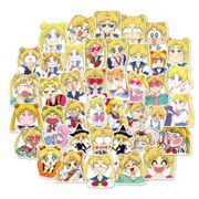 40 pcs/pack Kawaii Sailor Moon Cartoon Bullet Journal Adhesive Stickers DIY Decoration Diary Stationery Stickers Children Gift