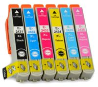 6x Epson 24xl Pack Tinta Compatible T2431 T2432 T2433 T2434 T2435 T2436