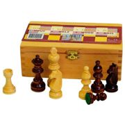 Abbey Chess Pieces Set One Size Brown