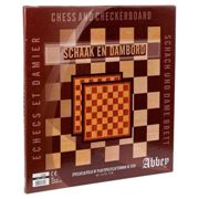 Abbey Draughts/chess Board One Size Brown