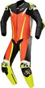 Alpinestars GP Tech V3 1pcs mono de cuero Tech Air rojo-fluo / negro / amarillo-fluo 50