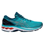 Asics Gel Kayano 27 Running Shoes EU 35 1/2 Techno Cyan / Sunrise Red