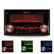 AUTORADIO RADIO COCHE BLUETOOTH USB SD MP3 AUX PANTALLA 3 COLORES AMPLIFICADOR