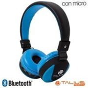 Auriculares Stereo Bluetooth Cascos HPH-5006BT Azules y Negros