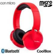 Auriculares Stereo Bluetooth Cascos Universal CoolMetal Red