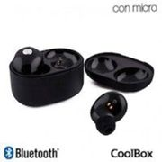 Auriculares Stereo Bluetooth Dual Pod CoolJet Negro