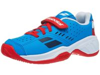 Babolat Pulsion AC Velcro Red/Blue Kids Shoes