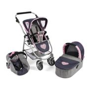 Bayer Chic 2000 Cochecito convertible 3 in 1 EMOTION ALL IN, melange gris-navy
