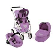 Bayer Chic 2000 Cochecito de muñecas 2 in 1 'Emotion', melange lila