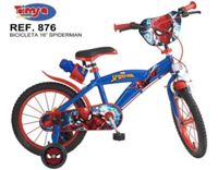 BICICLETA SPIDERMAN 16""