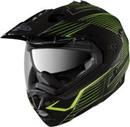 Caberg Tourmax Sonic Casco Flip-Up de Enduro Negro Mate/Amarillo XS (53/54)