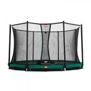Cama elástica InGround Favorit de Berg incl. red de seguridad Comfort 430 cm verde