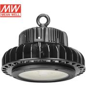 Campana industrial LED UFO HB 150W, ChipLed Samsung + MeanWell driver 1-10V Regulable, Blanco frío, Regulable