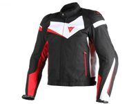 Dainese Veloster Motorcycle Jacket Men (black/white/red) 56