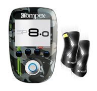 Electroestimulador Compex Wireless SP 8.0 WOD Edition + Power Knee Negras - M
