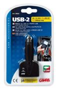 Enchufe Mechero Usb-2 2 Usb Interruptor Interno 12/24v 500ma