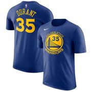 Golden State Warriors Nike Kevin Durant Name & Number Camiseta de la NBA - Rush Azul - Hombre S