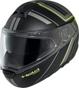Held by Schuberth H-C4 Tour Dekor, levante casco Negro/Gris/Amarillo Neón S