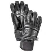 Hestra - Leather Fall Line 5 Finger - Guantes size 8, negro/gris