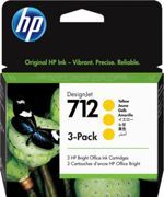HP 712 Multipack amarillo Original 3ED79A