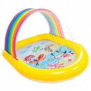 Intex Rainbow Children`s Pool With Canopy And Sprinkler 130 x 147 x 86 cm Multi
