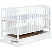 Klupś Radek Cot-Cradle With Drawer 120x60 White