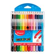 PACK COMBO MAPED COLOR PEPS 12 ROTULADORES + 15 LAPICES DE COLORES