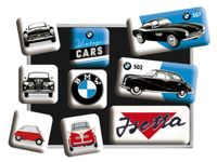 Nostalgic Art BMW Vintage Cars magnet set (9 pieces)