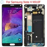 """Original N910F LCD For Samsung Galaxy Note 4 Display With Frame Super AMOLED 5.7"""" SM-N910A N910F N910C LCD Touch Screen Parts"""