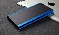 Powerbank solar 20.000mAh con 2 tomas USB y linterna LED - Color: Azul (95916601)