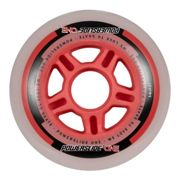 Powerslide One 4 Unidades 84 mm Milky / Red