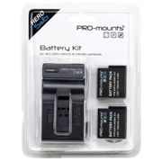 Pro Mounts Battery Kit+charger 1260mah For Gopro 5/6/7 One Size
