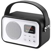 Sunstech RPBT450BK - Radio de diseño retro con Bluetooth, color negro Negro