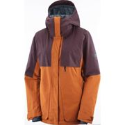 SALOMON Proof Lt Insul Jkt W Umber/winetastin/heather - Cazadora para esquí - Marrón - EU XS