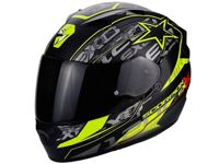 Scorpion Exo 1200 Air Solis Casco integrale (negro/amarillo) 55