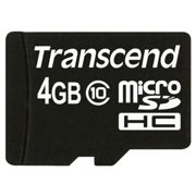 Transcend Micro Sdhc 4gb Class 10 With Sd-adapter One Size
