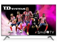 "TV TD SYSTEMS K43DLJ12US 43"" UHD 4K SMART ANDROIDTV WIFI USB HDMI PLATA"