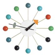 Vitra - Ball Clock Nelson - Reloj de pared - multicolor/aguja colored/madera/Ø33cm