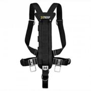 Xdeep Stealth 2.0 Harness With No Wing One Size Black