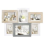 Zep Vincennes 6 Photo Wood One Size White / Grey / Brown